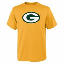 Green Bay Packers Yellow Team Primary Logo Short Sleeve Tee (Youth XL 18/20)