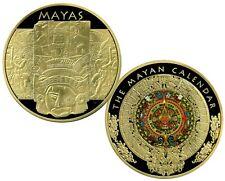 COLOSSAL MAYAN CALENDAR COMMEMORATIVE COIN PROOF LUCKY MONEY VALUE $139.95