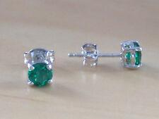 925 Emerald (Lab Created) Stud Earrings/Emerald Stud Earrings/Emerald Jewellery
