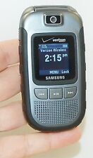 Samsung Convoy DARK GRAY Verizon Flip Cell Phone Military Grade SCH-U640 2MP Cam