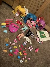 Collection Of Large Small La-La-Loopsy Dolls Lalaloopsy Clothes Extras Bag Shoes