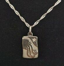 ea066c7183f4 colgante con cadena horóscopo Acuario plata de ley (Sterling silver)