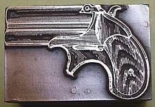 """""""DERRINGER HAND GUN"""" PRINTING BLOCK."""