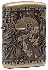 Zippo Armor Antique Brass Steampunk Pocket Lighter Multicut Engraving #29268