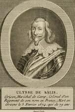 AUVRAY, Porträt des Ulysse de Salis, 18. Jh., Kupferstich