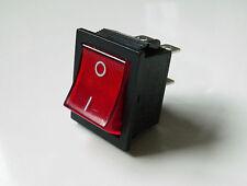 Neon rosso Rocker Interruttore di alimentazione elettrica per amplificatore per chitarra Marshall DPST due Pole