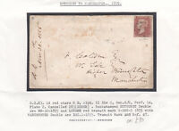 1855 QV NUTHURST COVER WITH A 1d PENNY RED STAMP PLATE 2 ALPHA II DIE II Cat £90
