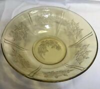 """Vintage YELLOW DEPRESSION GLASS,Federal glass,sharon PATTERN 8.5""""  Serving Bowl"""