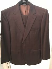 Jos A. Banks Mens Dark Brown Signature 39 34 x 30 Wool 2 Button Suit