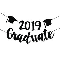 1pc 2019 Graduate Banner Hanging Paper for Graduation Party Supplies