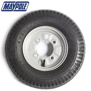 "Maypole Wheel & Tyre 4"" x 8"" Fits Trailer High Speed Motorhome Caravan Spare"