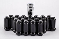 24 Piece Black Spline 14mm x 1.5 Locking Lug Nuts Chevy GMC Trucks 6 Lug Kit Set