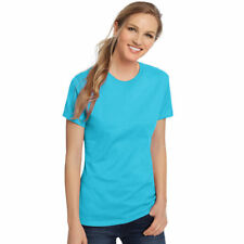 8452e5bbe Hanes SL04 Womens Nano-t T-shirt Size Large Aquatic Blue