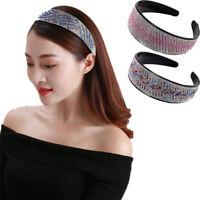 Women's Wide Crystal Headband Bead Hairband Hair Band Hoop Accessories Party
