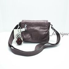 NWT Kipling AC8281 Sabian Crossbody Mini Shoulder Bag Popping Purple Metallic 49