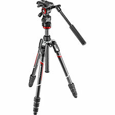 Manfrotto MVKBFRTC-LIVE Befree Live Carbon Fiber Video Tripod. EU Seller, NoFee