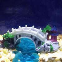 Vintage Bridge Fish Tank Aquarium Landscaping Underwater Ornament Decoration ijn