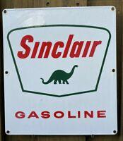 VINTAGE SINCLAIR GASOLINE PORCELAIN SIGN USA OIL LUBE GAS STATION Dinosaur DINO