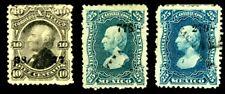 MEXICO 1874-1879 SC#107-109 126-127; 1883 SC#148a; 1884 SC#150-154 156 STAMPS