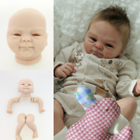 "2019 For Making 17-18"" Newborn Mold Reborn Baby Doll Kits Soft Vinyl Head Limbs@"
