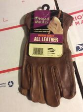 All Leather Premium Quality Work Gloves By Hand Master (Medium)