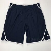 New Nike Men's L Team Flight Jordan Woven Lightweight Basketball Shorts Navy