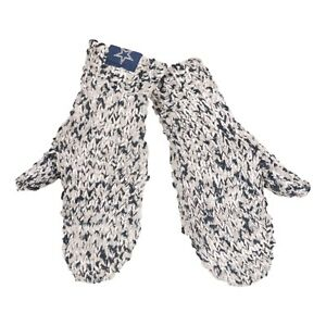 Dallas Cowboys Mittens Chunky Knit Gloves Winter New Women's Team Colors