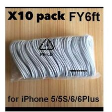 Lot of 10x6 FT Long Lightning 8 Pin USB Charger Cord Cable iPhone 5s6/7 plus M