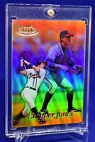 CHIPPER JONES TOPPS GOLD LABEL REFRACTOR 16 ATLANTA BRAVES LEGEND HOF SP