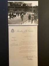 Benito Mussolini Italy Ministry of War RARE Signed Document Photo Collection