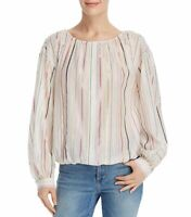 Joie Women's Blouse White Ivory Size Small S Multi Stripe Button-Down $198 008