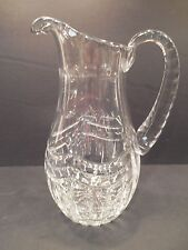 Heavy Cut Crystal Pitcher Decanter Jug