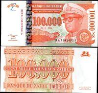 ZAIRE 100,000 100000 ZAIRES 1996 P 76 G&D aUNC