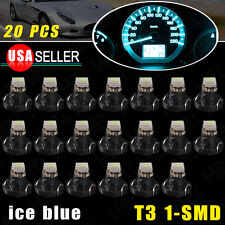 20 x T3 Neo Wedge 1210 SMD 1 LED 8mm Cluster Instrument Dash Climate Lights US