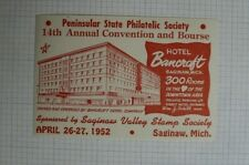1952 Peninsular State Ps 14th Annual Convention & Bourse Saginaw Mi Souvenir Ad
