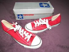 Nib Vintage Converse Silver Box Made In Korea Scarce All Star Low Red 11.5