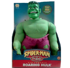 "Marvel Comics Playskool Spiderman Friends HULK  Chunky kids 15"" plush figure"