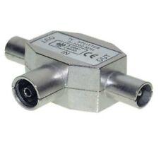 2-fach Verteiler 75 dB, 2 TV Geräte an eine Dose, Splitter Antennenverteiler