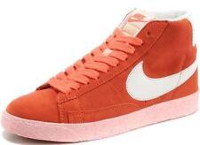 acbefe42a088 Nike Blazer Mid Vintage Orange White Womens Suede Trainers