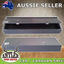 GUN SAFE CAR CARAVAN FIREARM RIFLE STORAGE STEEL CABINET TRANSPORT SAFE 4X4 BOAT