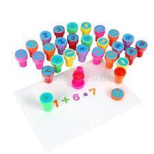 28pcs Number Mathematical Maths Symbol Ink Stamp Stamper Kid Educational Toy