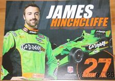 2013 James Hinchcliffe Go Daddy Chevy Dallara Indy Car postcard