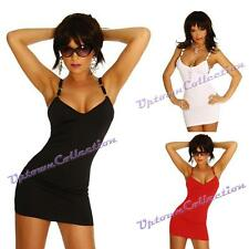 Ladies Black Red White Clubwear sexy Mini Dress Cocktail Party Sz 8 10 12 14 16