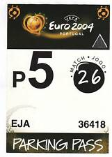 Orig.Ticket / Parkticket  EM 2004   FRANKREICH - GRIECHENLAND 1/4 FINALE  !! TOP