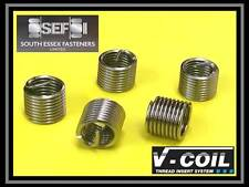 M6 x 1.0 x 3D V Coil - Helicoil Compatible - Wire Thread Repair Inserts (QTY 10)