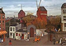 Windmill-Moulin de Galette-Michel Delacroix Artwork-German Modern Postcard