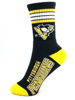 Pittsburgh Penguins Hockey Black Deuce 4 Stripe Youth Socks