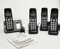 Panasonic KX-TGE430 Cordless Telephone with Answering Machine, 4 Handsets