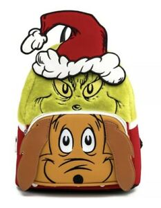 Loungefly Dr. Seuss The Grinch & Max Cosplay Mini Backpack NWT