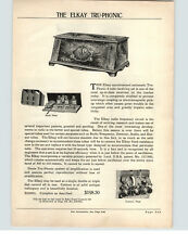 1927 PAPER AD Elkay Tru Phonic Radio Receiver Baby Grand Console 6 Tube
